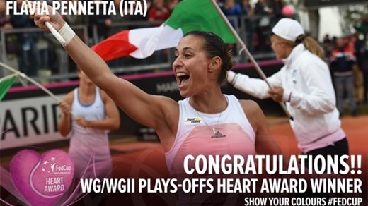 Flavia Pennetta, câştigătoarea Heart Award 2015