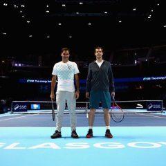 Murray şi Federer au disputat un meci demonstrativ la Glasgow