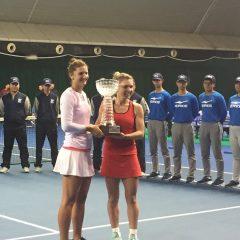 Irina Begu şi Simona Halep au cucerit titlul în proba de dublu la Shenzhen