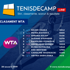 Naomi Osaka, noul lider al clasamentului WTA